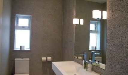 interior design bathroom mosaic wall